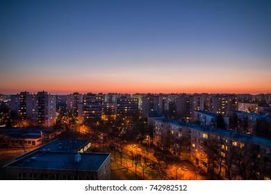 Sunset above Debrecen
