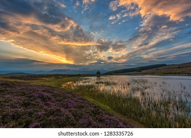 Sunset above Kenmore in Highland Perthshire, Scotland
