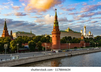 Sunset above the Kremlin, Moscow