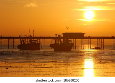 Sunset above the Southend Pier, Southend-on-Sea, Essex, England
