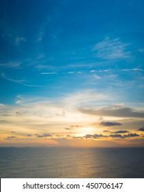 Sunset above Thai gulf