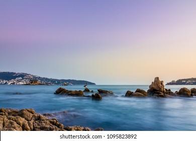 Sunset at Acapulco beach