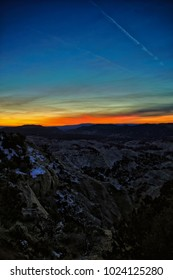 Sunset across the Escalante red rock country in Utah