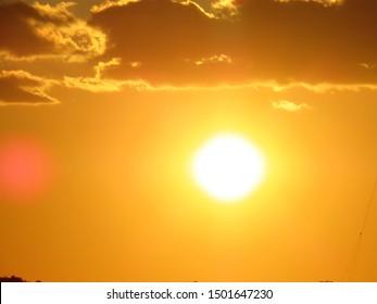 Sunset at adriatic sea, croatia