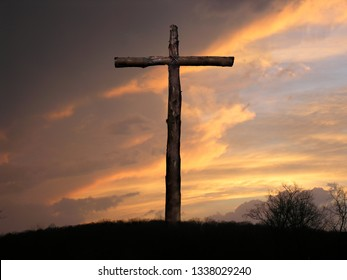 Sunset After Storm at the Cross of Jesus