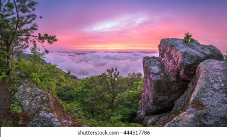 Sunset after storm at High Rock along the Pine Mountain Trail in Kentucky