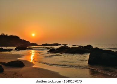 Sunset at Agonda beach in Goa.