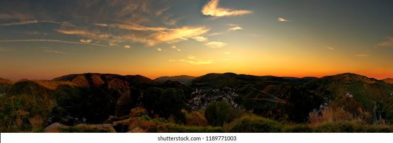 sunset Ahr skyline 360°