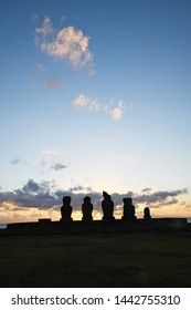Sunset at Ahu Tahai from Easter Island