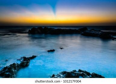 Sunset at Akhziv Beach