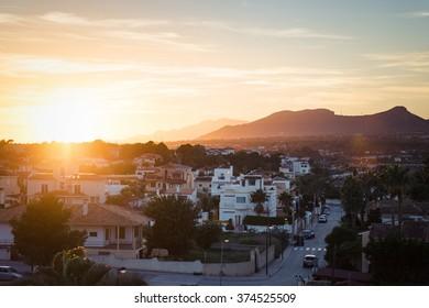 Sunset in Albir, Spain