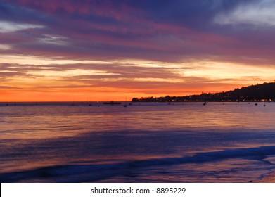 Sunset along the California Coast