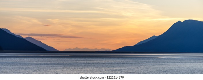 Sunset along Turnagain Arm