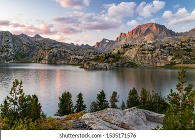 Sunset Alpenglow in the Wind River Range of Wyoming