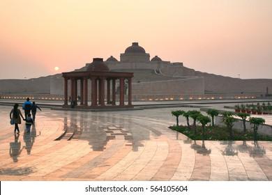 Sunset at Ambedkar Memorial Park is a public park and memorial in Gomti Nagar, Lucknow, Uttar Pradesh, India