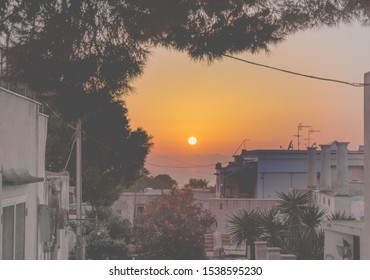 Sunset at Anacapri on Capri island