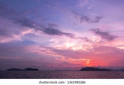 Sunset in andaman sea Phuket Thailand