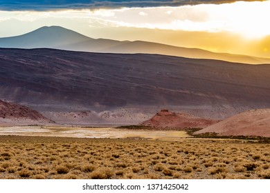 sunset in the Andean highlands