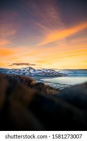Sunset at Antelope Island in Snowy Utah - Shutterstock ID 1581273007