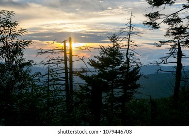 Sunset in Appalachia mountains