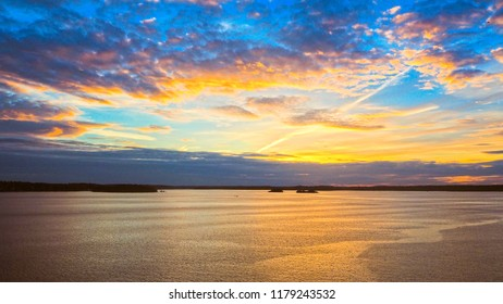 sunset archipelago sea sweden