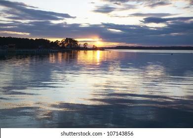 Sunset in the archipelago, Sweden.