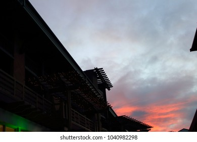 Sunset and architecture