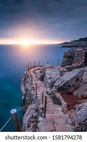 sunset around the coast path on the Cap d'antibes