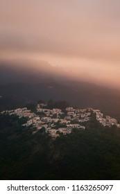 sunset around esterel hills