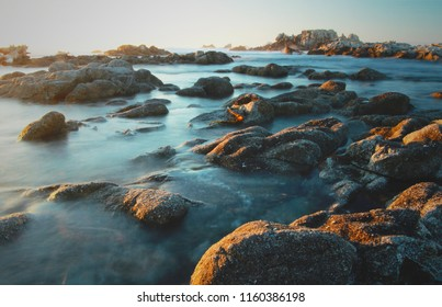 Sunset, Asilomar State Marine Reserve, Pacific Grove near Monterey and Carmel, California, United States of America (USA)
