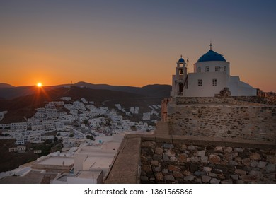 Sunset in Astypalaia island Greece