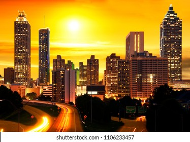 Sunset in Atlanta, United States