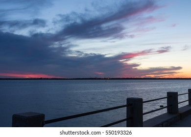 Sunset, Atlantic Ocean, Charleston, North Carolina