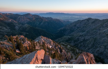 Sunset atop Naomi Peak in Utah