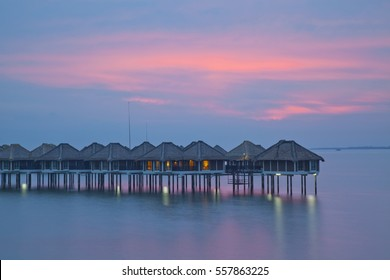 Sunset at Avani Sepang Goldcoast Resort, Malaysia