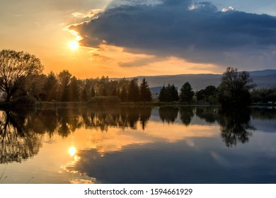 Sunset at the Badinske Jazero - Shutterstock ID 1594661929
