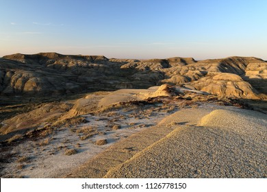 Sunset in the badlands of Grasslands National Park, East Block, Canada
