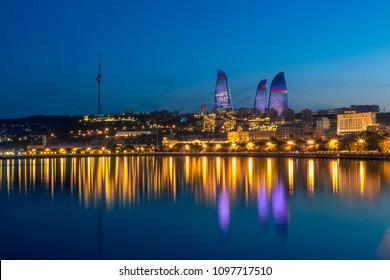 Sunset of Baku, Azerbaijan
