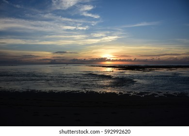 Sunset at  Bali beach / Nusadua / Indonesia / Indian Ocean