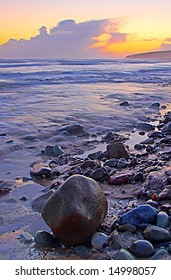 sunset at Ballybrannigan Beach, Co.Cork, Ireland
