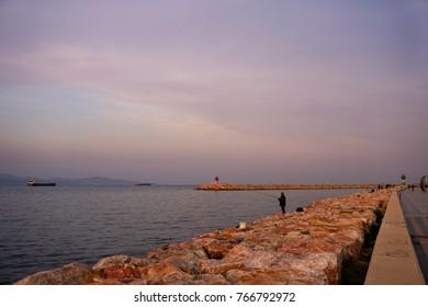sunset at   Bandirma, Turkey