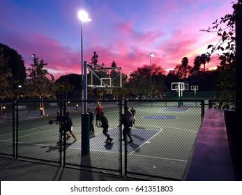 Sunset basketball