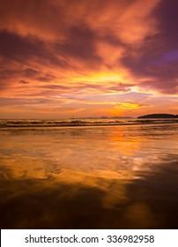 Sunset at Beach, Ao Nang Krabi Thailand