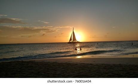 Sunset beach Aruba
