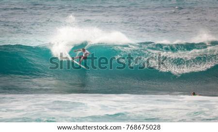 584b2e3995 SUNSET BEACH HAWAII USA DECEMBER 2 Stock Photo (Edit Now) 768675028 ...