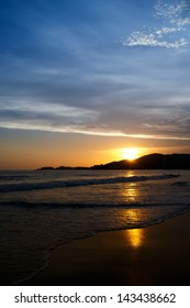 Sunset at the beach. Ixtapa, Zihuatanejo, Mexico.
