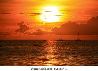 Sunset at the beach, Koh Lipe, Thailand