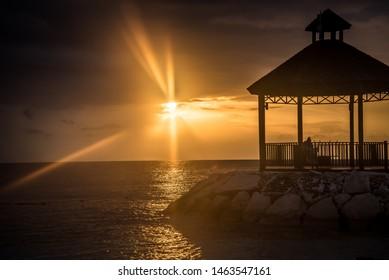 Sunset at the Beach Montego Bay Jamaica