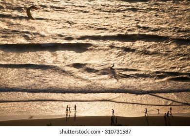 Sunset beach near Chapora Fort, Goa, India