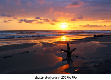 Sunset at the beach in Nosara, Costa Rica